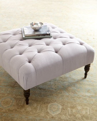 These large ottomans are a great coffee table alternative and work well as extra seating during Holiday parties.