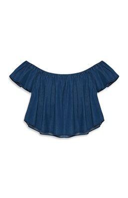 Blue Denim Bardot Top