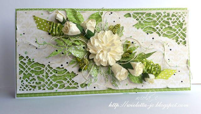 moje papierowe hobby, Filigree card with flowers