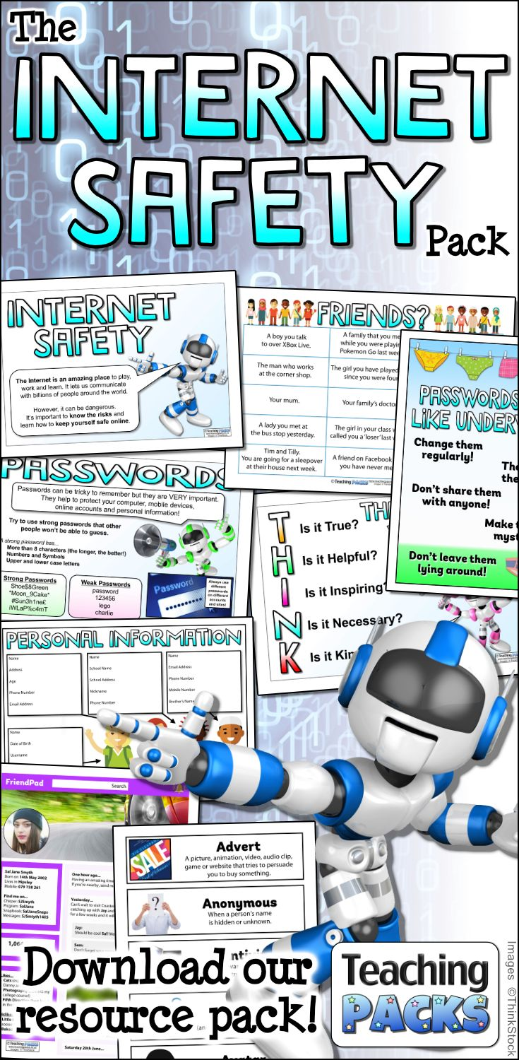 Help your children to stay safe online with the teaching, activity and display resources in our Internet Safety Pack!  Available from http://www.teachingpacks.co.uk/the-internet-safety-pack/