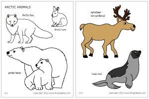 free printable polar animals