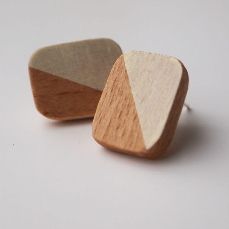 kolczyki woodchuck     woodchuck earrings  #wood #design #handmade #earrings