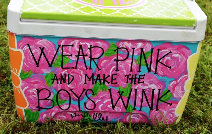 Diy Painted Cooler : Best images about it s not a cooler until painted