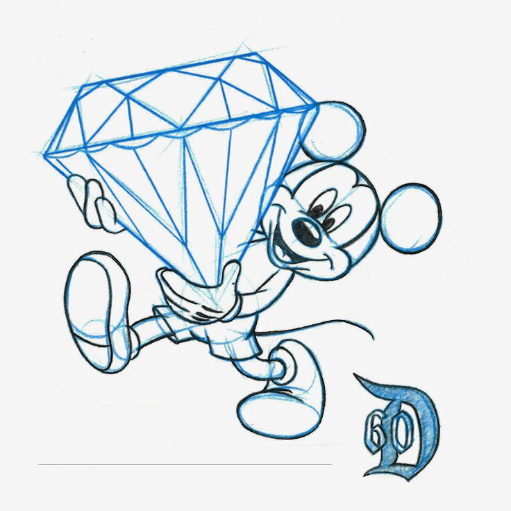 "The Disneyland Resort Sketch Artists have very busy creating this ""diamond in the rough"" – because it's a sketch, of course! Special Tip: Have the artist add a personal touch to your sketch by adding a special date, name or message."