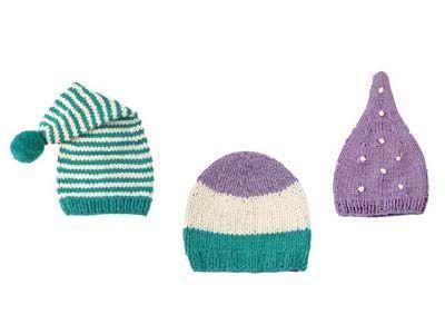 Süßer Kopfschutz für Neugeborene | Diese süßen Babymützen zum Stricken wärmen die Kleinsten sanft, wenn draußen mal ein etwas frischerer Wind weht - und sind im Handumdrehen selbst gemacht!