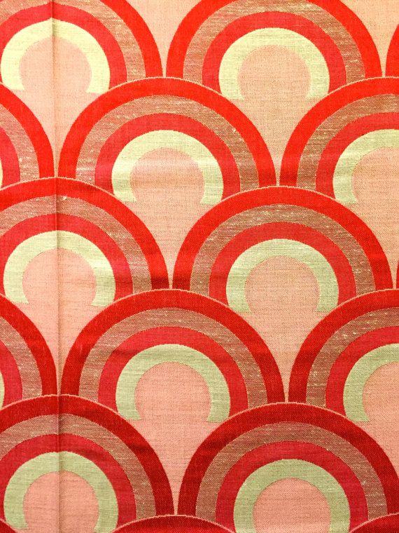 Mod 70s Op Art Scandinavian Design Fabric//Mid by KimberlyZ