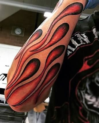 Image result for flames on wrist tattoos