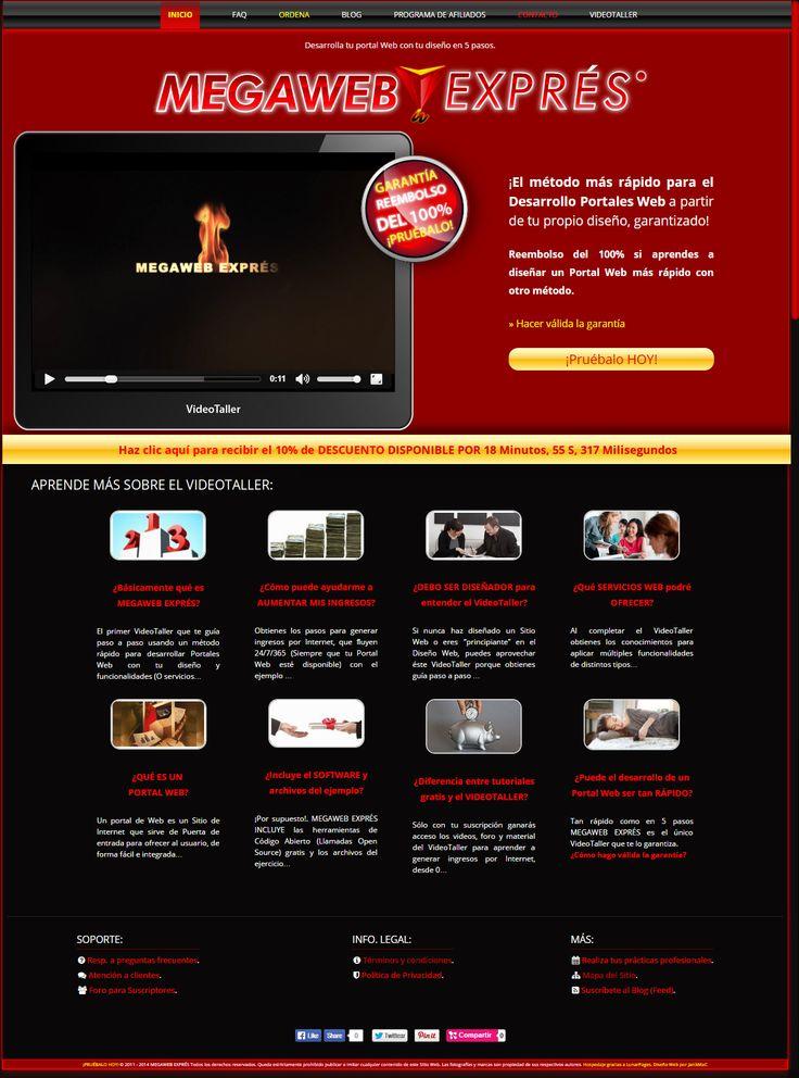 Diseño Web para curso en línea: MEGAWEB EXPRÉS.