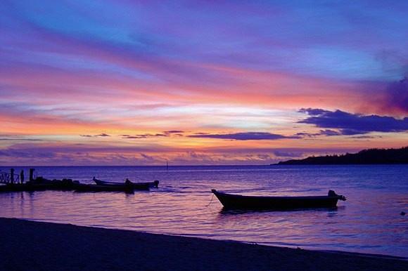 Northern delight... an idylic purplish sunset over Vanua Levu, Fiji's second largest island. Come Explore Fiji.   *Latest digital edition & access to archives (flip-page technology & audio): http://viewer.e-digitaleditions.com/t/18754  ** Follow & PIN us: http://pinterest.com/explorefiji    ^Tourism Fiji photo^