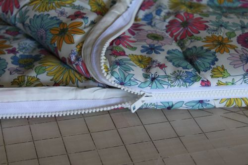 Can't find a cute sleeping bag?  Make one.  (Easy to make a comforter from two flat sheets and comforter batting - so the possibilities are pretty endless!)