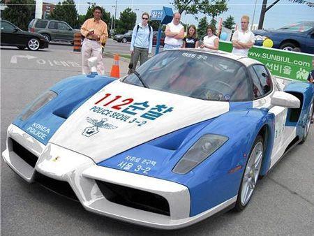 Enzo Ferrari Police Car.