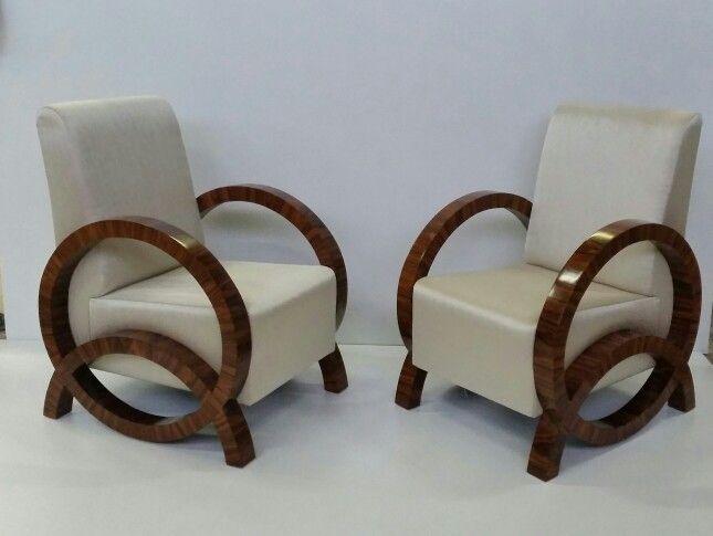 Art -  deco  . . Fotele palisander