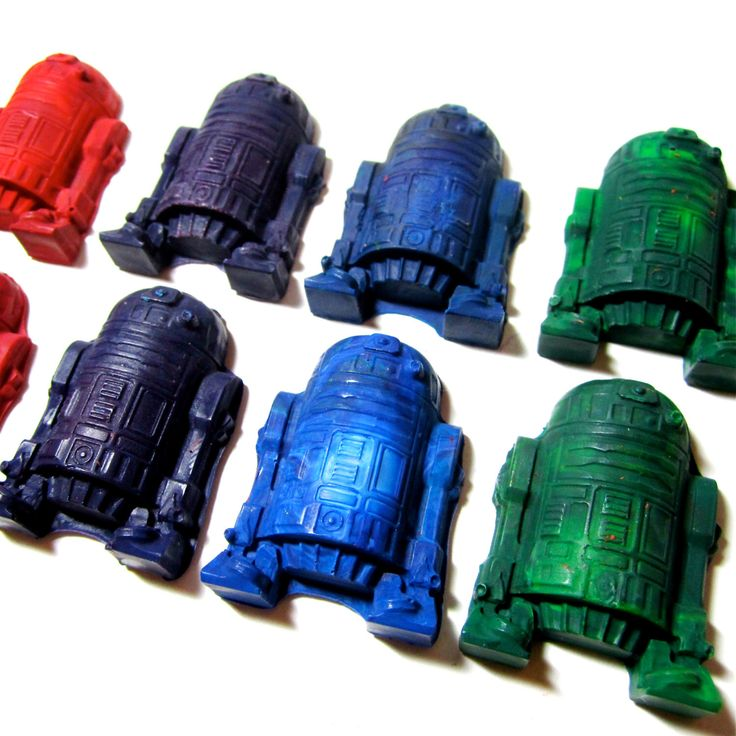 A personal favorite from my Etsy shop https://www.etsy.com/listing/156585534/recycled-star-battle-robot-crayons-set