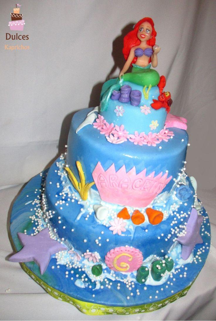 Torta Sirenita #TortaSirenita #TortasDecoradas #DulcesKaprichos