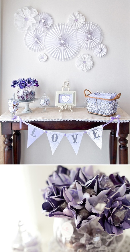 purple baby shower decoration great diy