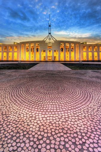 Aboriginal Art of Parliament House, Canberra Australia's national capital, Canberra offers a great backdrop for conferences, incentives and events. If you'd like your next program to be held in Australia, visit us at http://www.australiaconferencesandincentives.com/