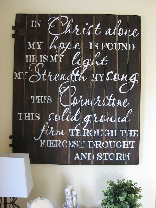 I'd love to have this hanging in my house one day...this is one of the most powerful songs I know. Right up there with  Great is Thy Faithfulness!