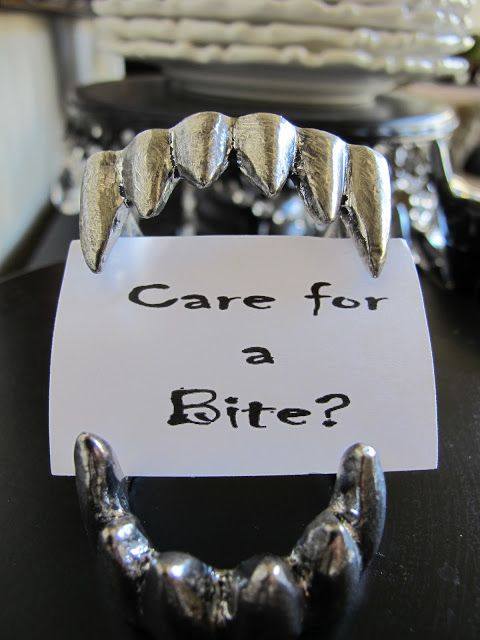 Vampire Teeth. Would also make good place settings.