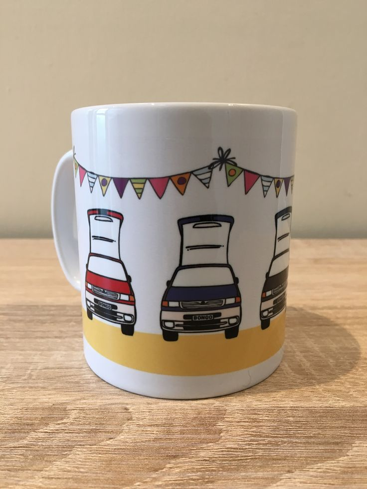 NEW MAZDA BONGO DESIGN! Lead Arts design Mazda Bongo mugs - for sale. Available to buy at www.leadarts.com.