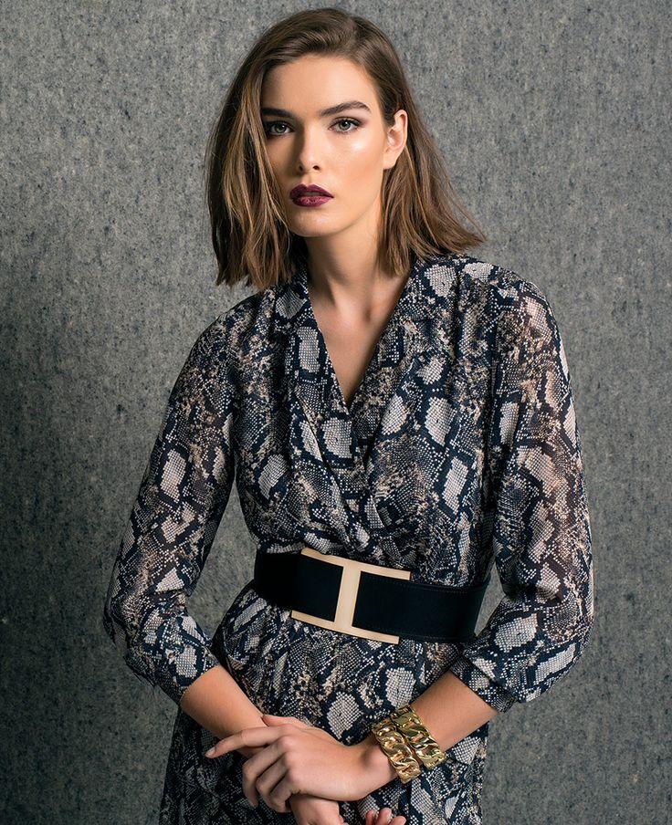 Snake Tunic Dress - Bardot
