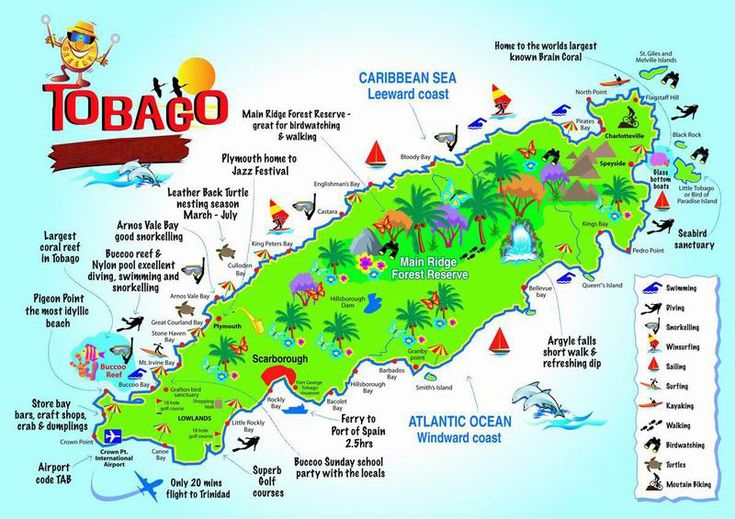 map of tobago - Google Search