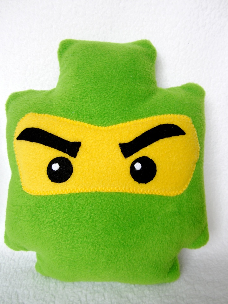 Lego Inspired Ninjago Minifigure Pillow. $16.00, via Etsy.