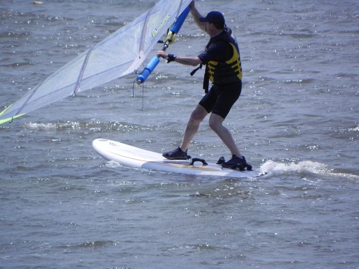 An alternative windsurfing rig Hmmmm? Windsurfing, Lake, Fun