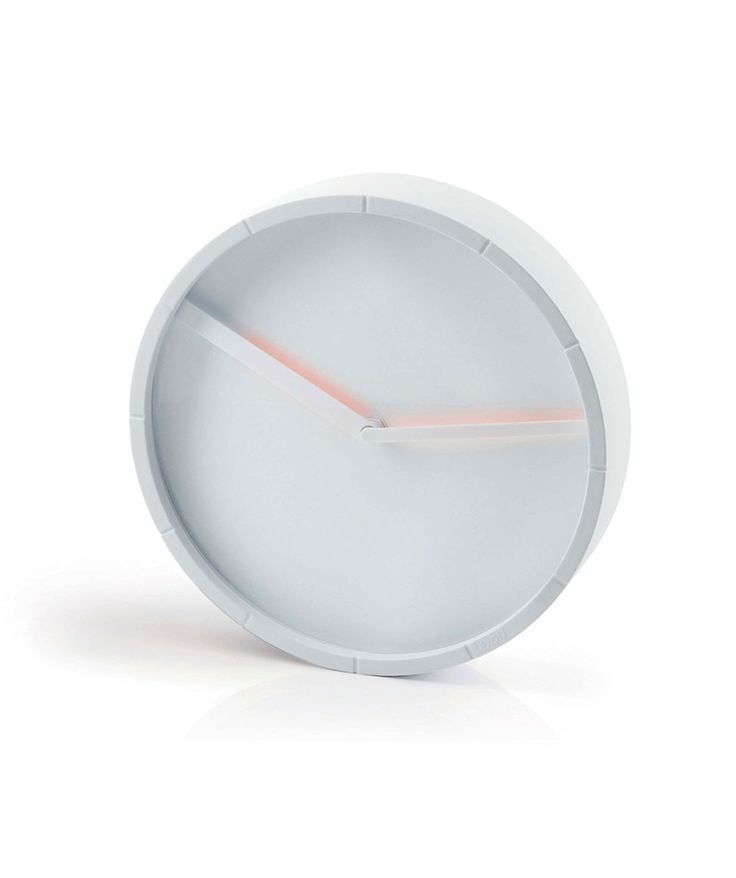 With 4 colours available, this small glow wall clock adds the perfect amount of colour to your home or work space. | huntingforgeorge.com