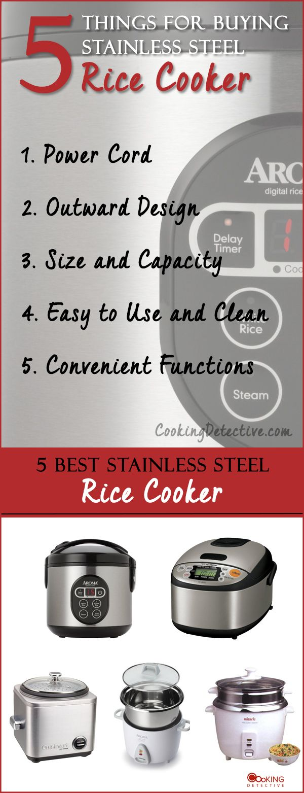 Looking for the best stainless steel rice cooker? We have researched and put together a buying guide to help you choose the best #ricecooker .