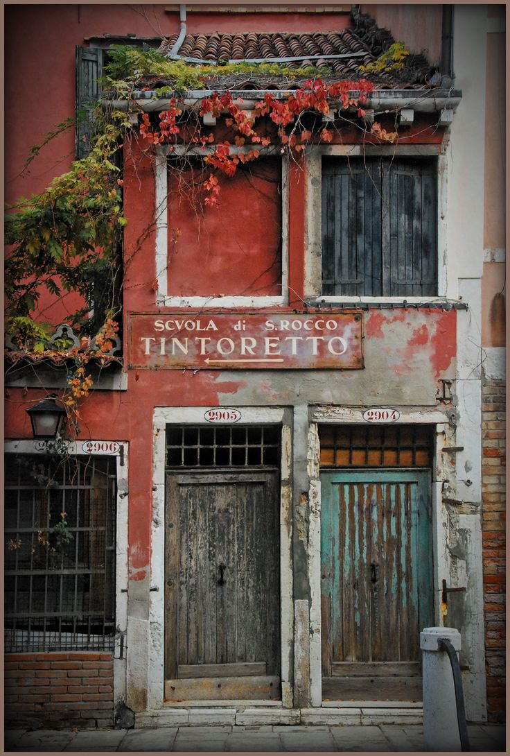Somehow this run-down storefront feels like home. Second that; the color the shape of the doors the aging; a feeling of familiarity. & 301 best Italy\u0027s doors windows balconies etc. images on ... Pezcame.Com