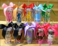 Custom Disney Princess Bridal Party Acrylic Tumblers Custom Disney Princess Bridal Party Acrylic Tumblers LylaBug Designs