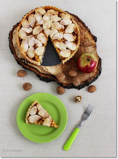 Gizi-receptjei.  Várok mindenkit.: Karamelles diós-almás pite.