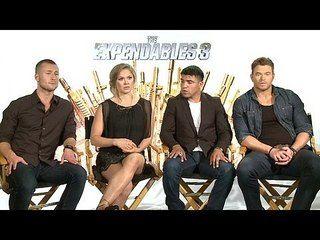 The Expendables 3: Glen Powell, Victor Ortiz, Ronda Rousey & Kellan Lutz Junket Interview --  -- http://www.movieweb.com/movie/the-expendables-3/glen-powell-victor-ortiz-ronda-rousey-kellan-lutz-junket-interview