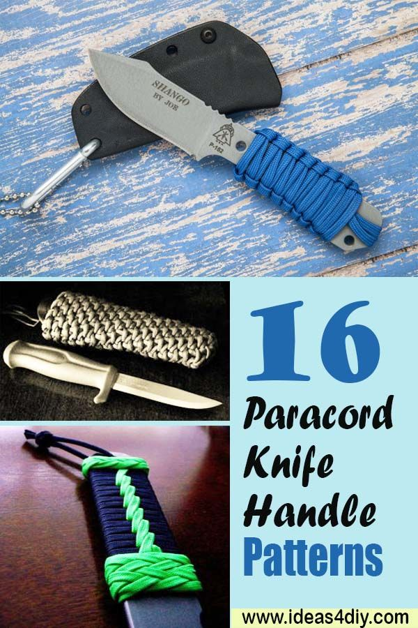 16 Paracord Knife Handle Patterns Crafts Paracord Paracord