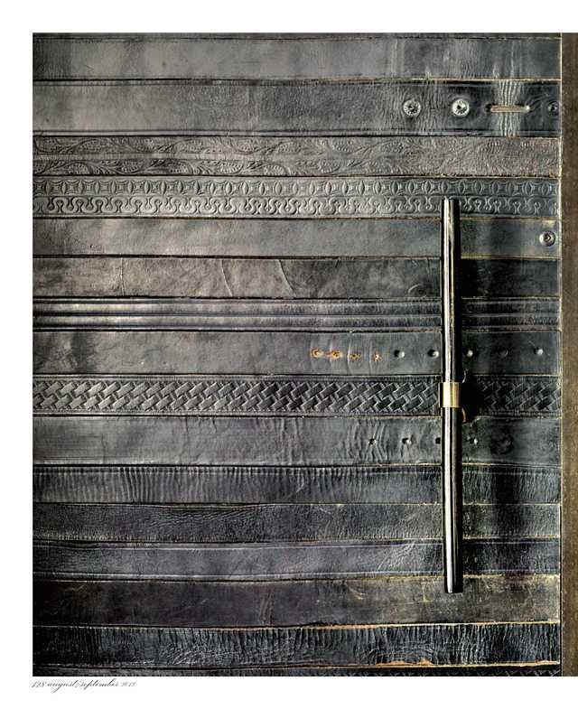 NOTHING IS WASTE! amy wertepny / recycled leather belt sliding door