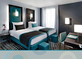 23 best images about deco chambre on pinterest malm bed - Chambre turquoise et noir ...