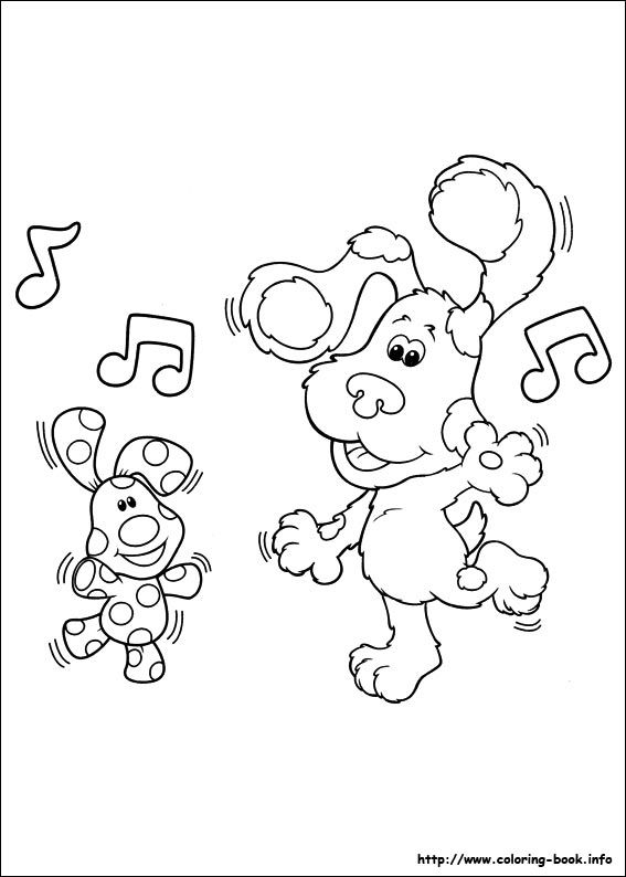 Blue S Clues Coloring Picture Coloring Pages Coloring Books Disney Coloring Pages