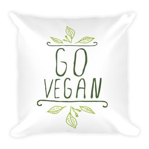 'Go Vegan' Pillow