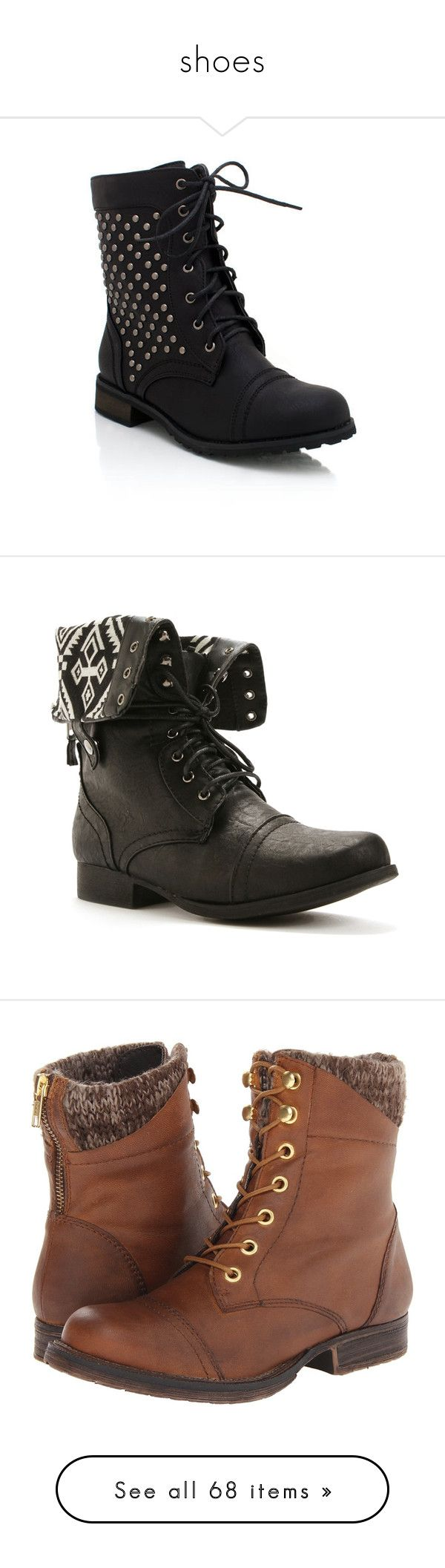 """""""shoes"""" by greys-lovatic ❤ liked on Polyvore featuring shoes, boots, ankle booties, chaussures, sapatos, ankle boots, high heel combat boots, lace up high heel booties, army boots and combat boots"""