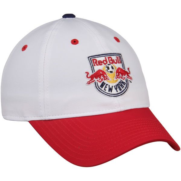 * Men's New York Red Bulls adidas White/Red Authentic Team Slouch Adjustable Hat, Your Price: $23.99