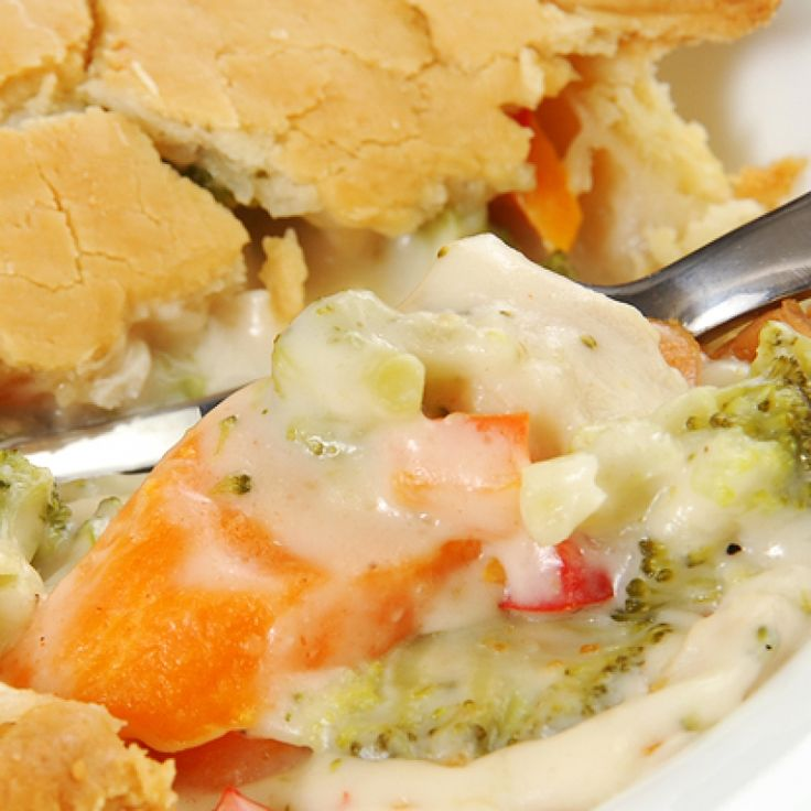 Mmm...vegetable pot pie. Who needs the meat with this ...