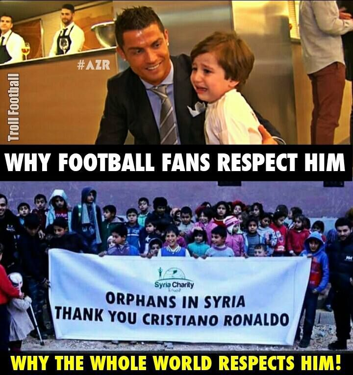 A great Player and an even better person, Cristiano Ronaldo