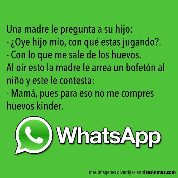 Chistes para WhatsApp: Huevos Kinder