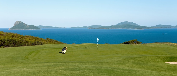 Just a few distractions on this golf course. Hamilton Island Golf Course.