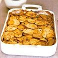 Yukon Gold and Sweet Potato Gratin (great idea to get the kids to eat sweet potatoes).