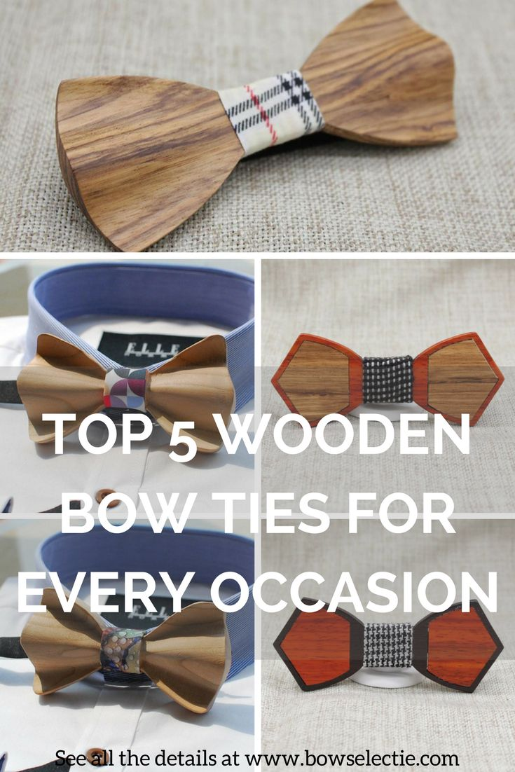 With menswear fashion being a little more daring as of late, men have been rocking the wooden bow tie at concerts and even on lunch dates. bowselectie.com