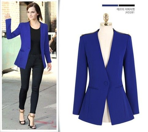 Images of Blue Blazer Womens - Reikian