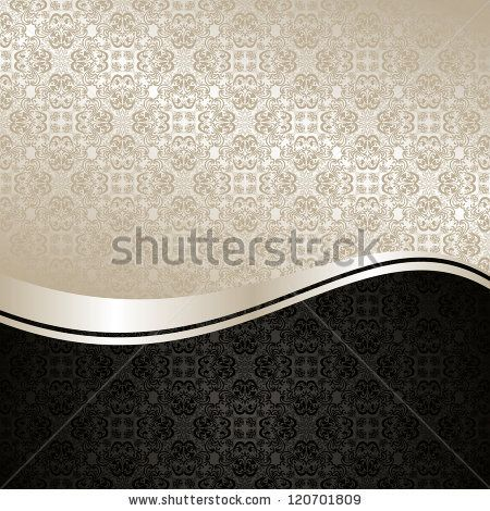 Luxury Background: silver and black. - stock photo