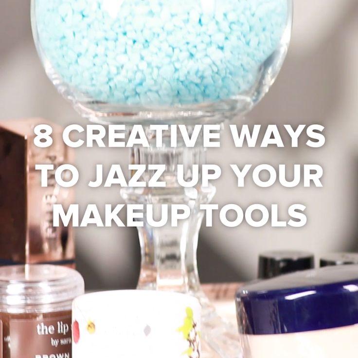 8 Creative Ways To Jazz Up Your Makeup Tools #hacks #DIY #creative #makeup