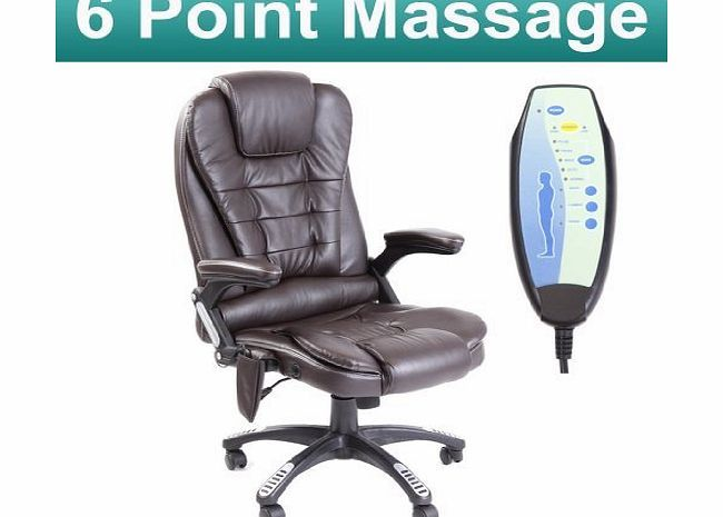 Homcom RIO BROWN RECLINING MASSAGE LEATHER OFFICE CHAIR w 6 POINT MASSAGE HIGH BACK COMPUTER DESK 360 SWIVE No description (Barcode EAN = 5055744810021). http://www.comparestoreprices.co.uk/leather-office-chairs/homcom-rio-brown-reclining-massage-leather-office-chair-w-6-point-massage-high-back-computer-desk-360-swive.asp